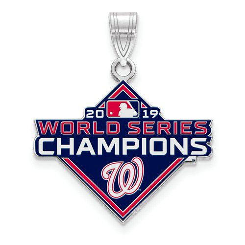 Sterling Silver Washington Nationals World Series 2019 Enamel Pendant