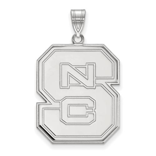 Sterling Silver 1in North Carolina State University Block S Pendant