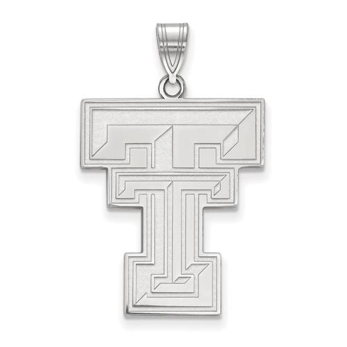 Sterling Silver 1in Texas Tech University TT Pendant