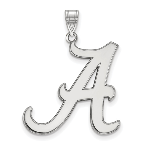 Sterling Silver 1in University of Alabama A Pendant