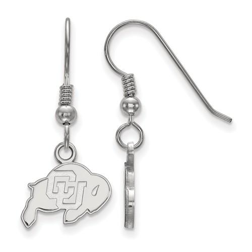 Univ of Colorado Buffalo Extra Small Dangle Earrings Sterling Silver
