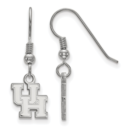 Sterling Silver University of Houston Dangle Wire Earrings