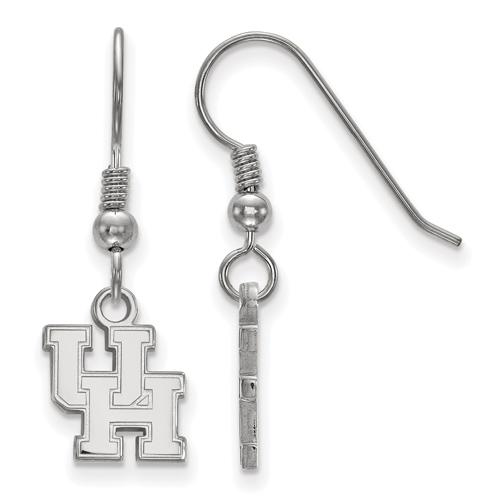 Sterling Silver University of Houston Dangle Wire Earrings