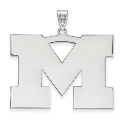 Sterling Silver 1in University of Michigan M Pendant