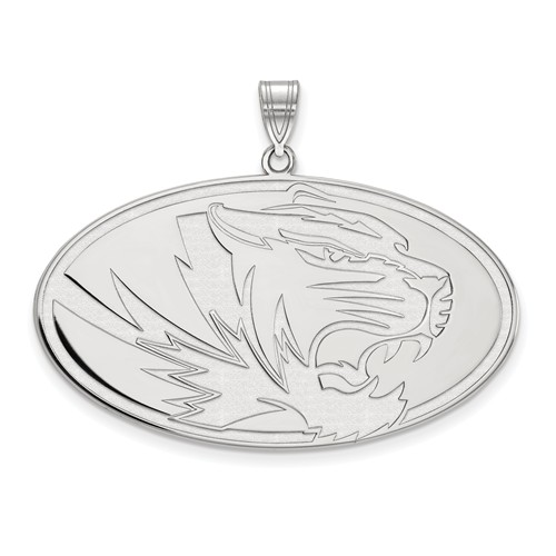 Sterling Silver 1in University of Missouri Oval  Pendant