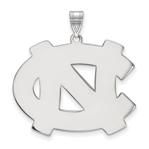 Sterling Silver 1in University of North Carolina NC Pendant