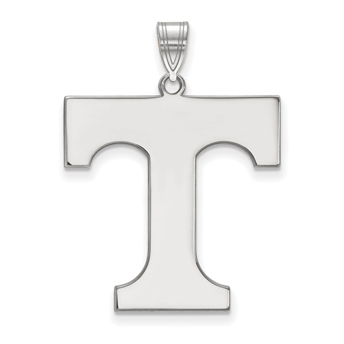 Sterling Silver 1in University of Tennessee T Pendant