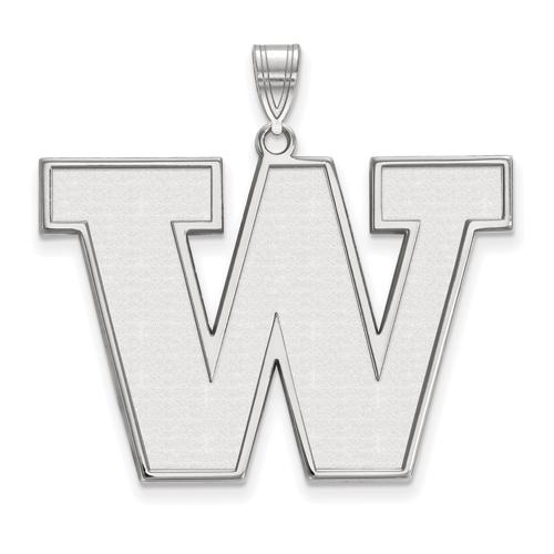 Sterling Silver 1in University of Washington W Pendant