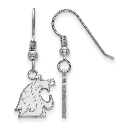 Sterling Silver Washington State University Dangle Wire Earrings