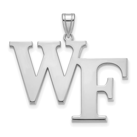 Sterling Silver 1in Wake Forest University WF Pendant