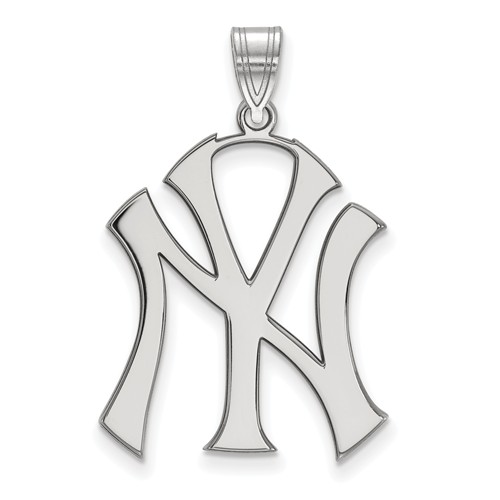 Sterling Silver 1in New York Yankees Pendant