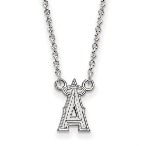 Sterling Silver Los Angeles Angels Logo Pendant on 18in Chain