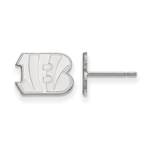 Sterling Silver Cincinnati Bengals Extra Small Logo Earrings