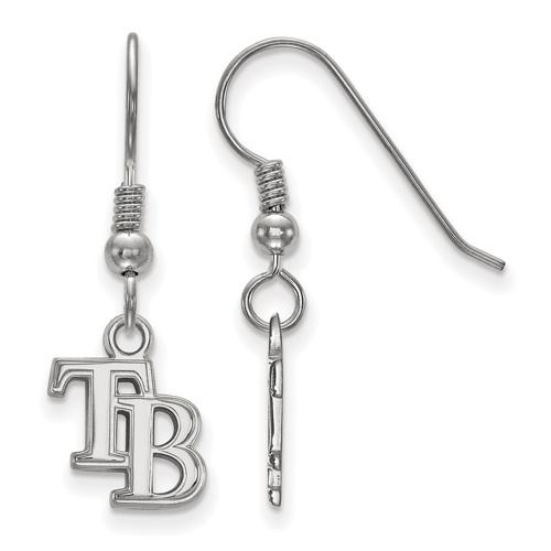Sterling Silver Extra Small Tampa Bay Rays Dangle Earrings