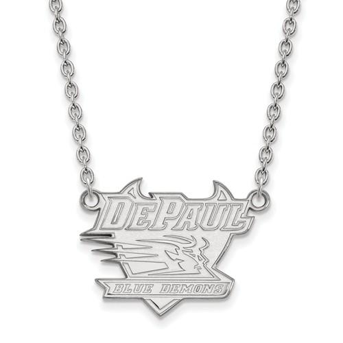DePaul University Pendant on 18in Chain Sterling Silver
