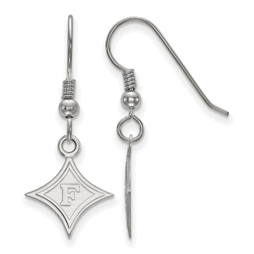 Sterling Silver Furman University Dangle Wire Earrings