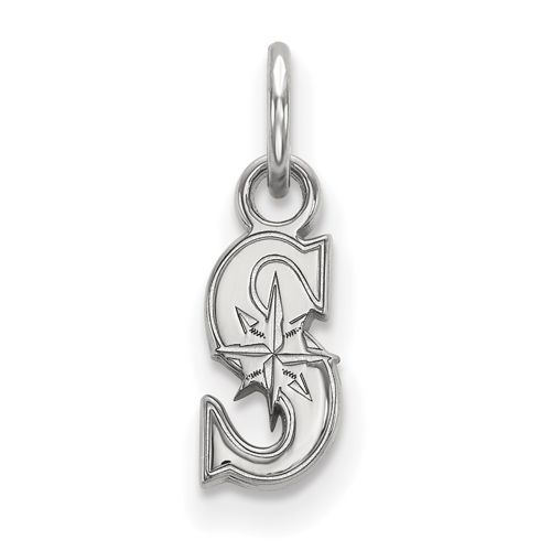 Sterling Silver 3/8in Seattle Mariners S Pendant