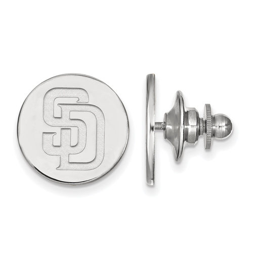 Sterling Silver San Diego Padres Lapel Pin