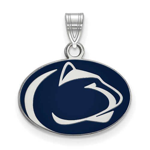 Sterling Silver 1/2in Penn State University Enamel Pendant