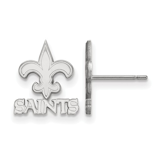 Sterling Silver New Orleans Saints Extra Small Logo Earrings