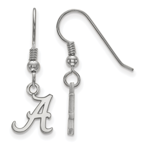 Sterling Silver University of Alabama A Extra Small Dangle Earrings