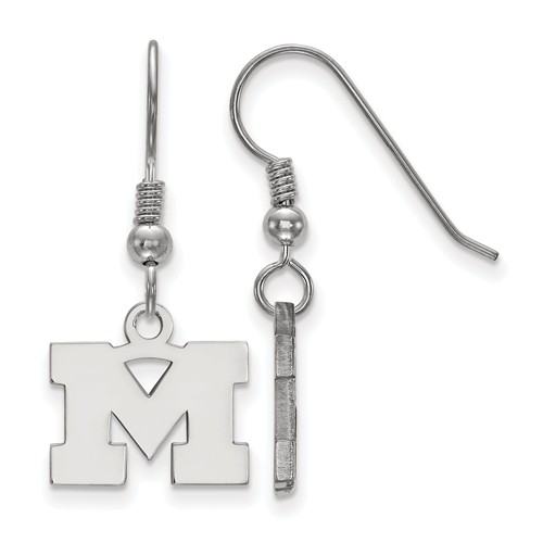 Sterling Silver University of Michigan M Extra Small Dangle Earrings