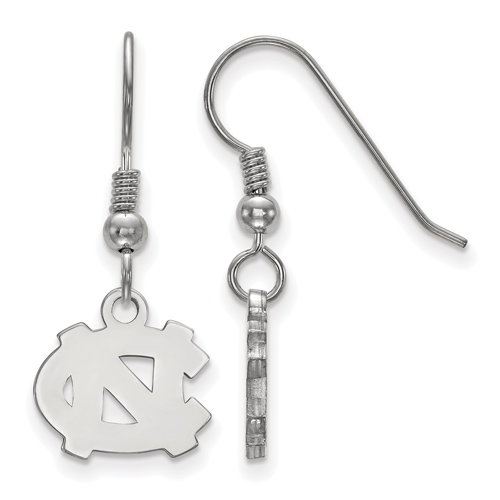 Sterling Silver University of North Carolina Extra Small Dangle Earrings