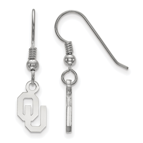 Sterling Silver University of Oklahoma OU Extra Small Dangle Earrings