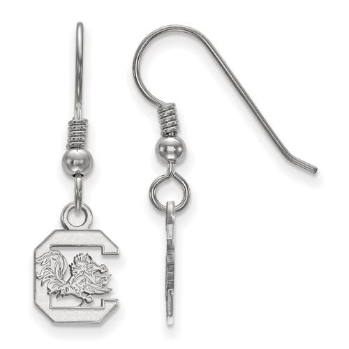 Silver University of South Carolina Extra Small Dangle Earrings