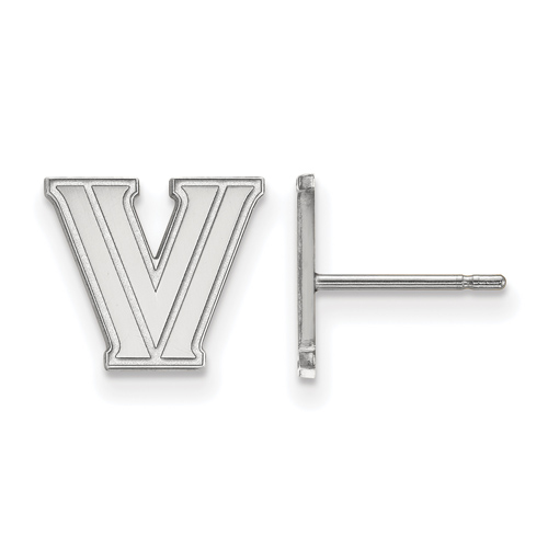 Villanova University Extra Small Post Earrings 14k White Gold