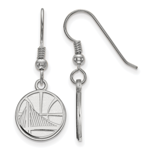Sterling Silver Golden State Warriors Small Dangle Earrings