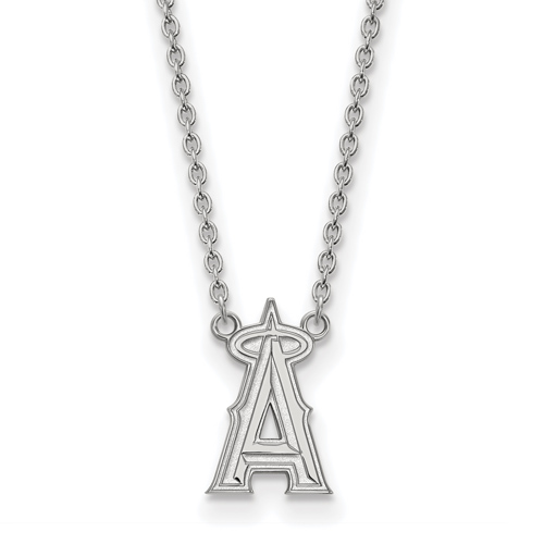 Sterling Silver Los Angeles Angels Pendant on 18in Chain
