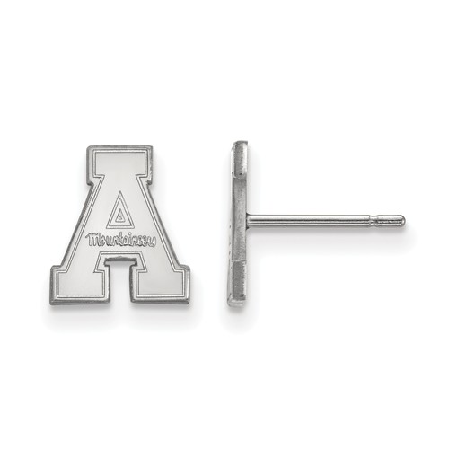 Appalachian State University Extra Small Post Earrings Sterling Silver