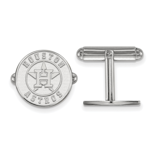 Sterling Silver Houston Astros Cuff Links