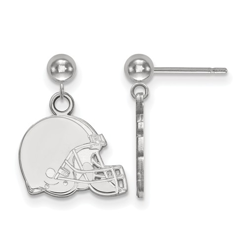 14k White Gold Cleveland Browns Dangle Ball Earrings