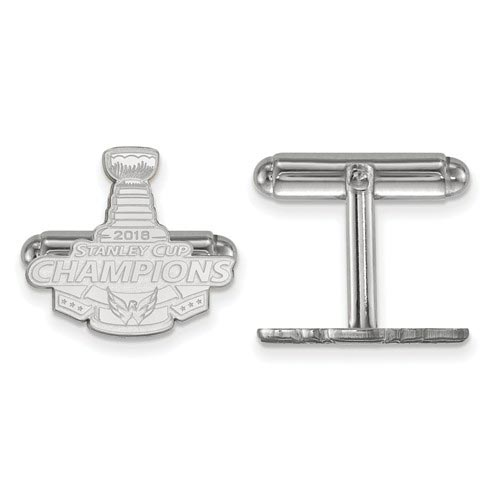 Sterling Silver 2018 Stanley Cup Washington Capitals Cuff Links