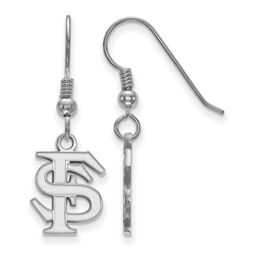 Sterling Silver Florida State University FS Small Dangle Earrings