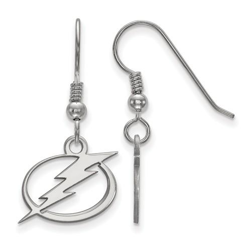 Sterling Silver Tampa Bay Lightning Dangle Wire Earrings