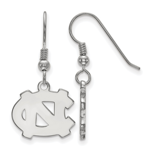 Sterling Silver University of North Carolina NC Small Dangle Earrings