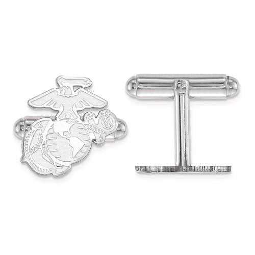 Sterling Silver U.S. Marine Corps Eagle Globe and Anchor Cuff Links