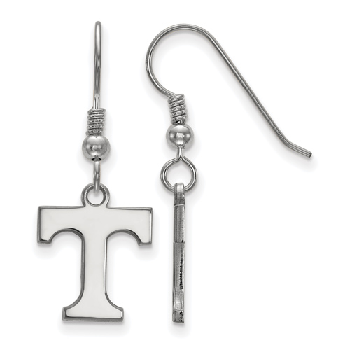 Sterling Silver University of Tennessee T Dangle Wire Earrings