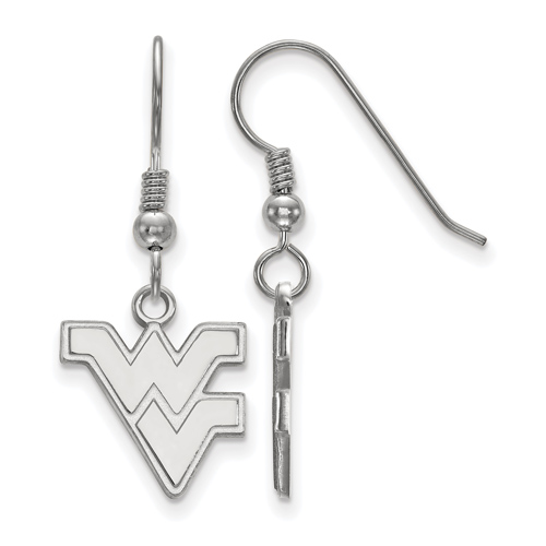 Sterling Silver West Virginia University WV Small Dangle Earrings