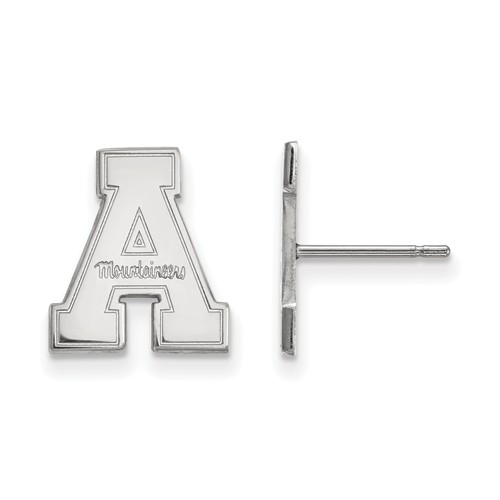 Appalachian State University Small Post Earrings Sterling Silver