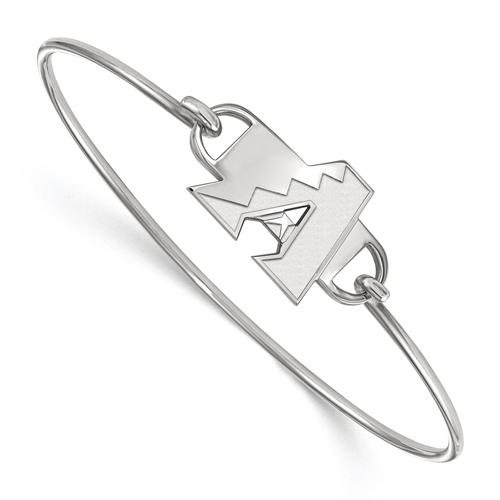Sterling Silver Arizona Diamondbacks Wire Bangle Bracelet