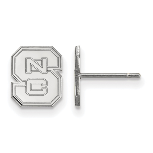 Sterling Silver North Carolina State University Block S Extra Small Post Earrings