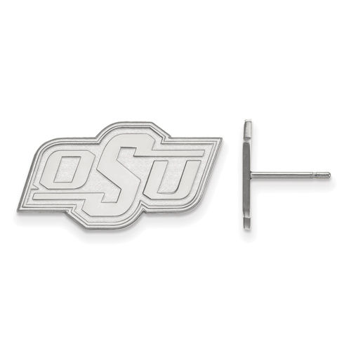 Sterling Silver Oklahoma State University OSU Small Post Earrings