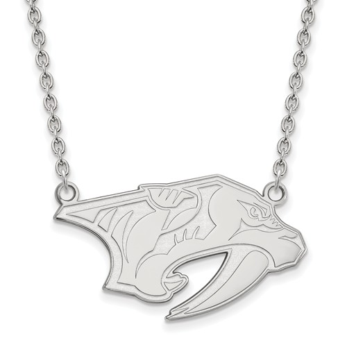 Sterling Silver Nashville Predators Necklace