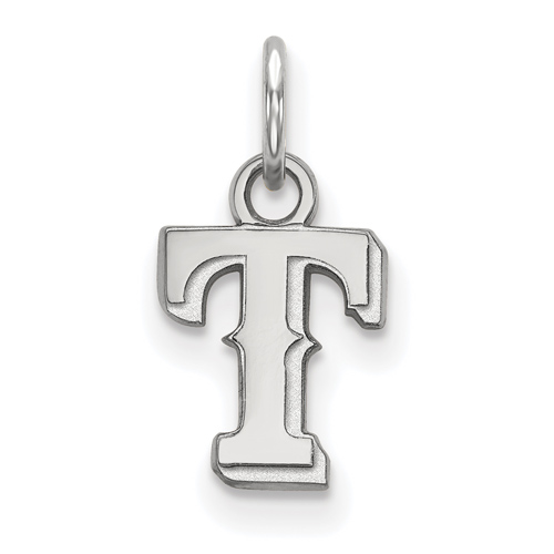 Sterling Silver 3/8in Texas Rangers T Pendant
