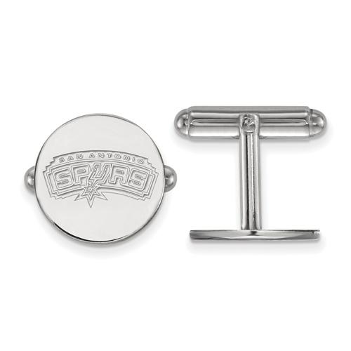 Sterling Silver San Antonio Spurs Cuff Links