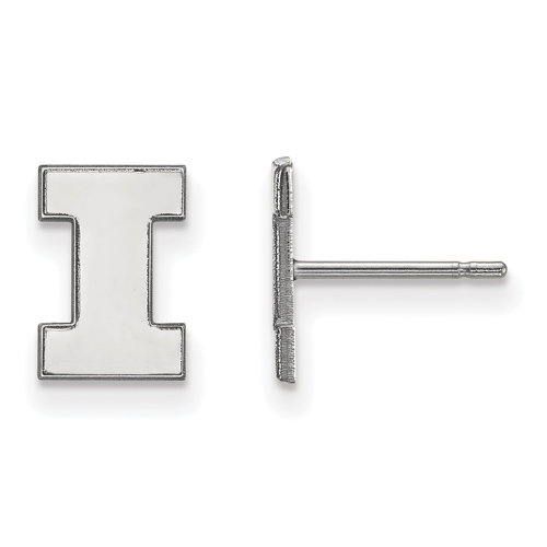 Sterling Silver University of Illinois I Extra Small Post Earrings